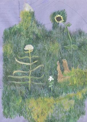 Anders Dickson »R.I.P. van Winkel« 2016, Wasserfarbe, Kugelschreiber, Bleistift auf Papier, 29,7 x 21 cm Courtesy Anders Dickson