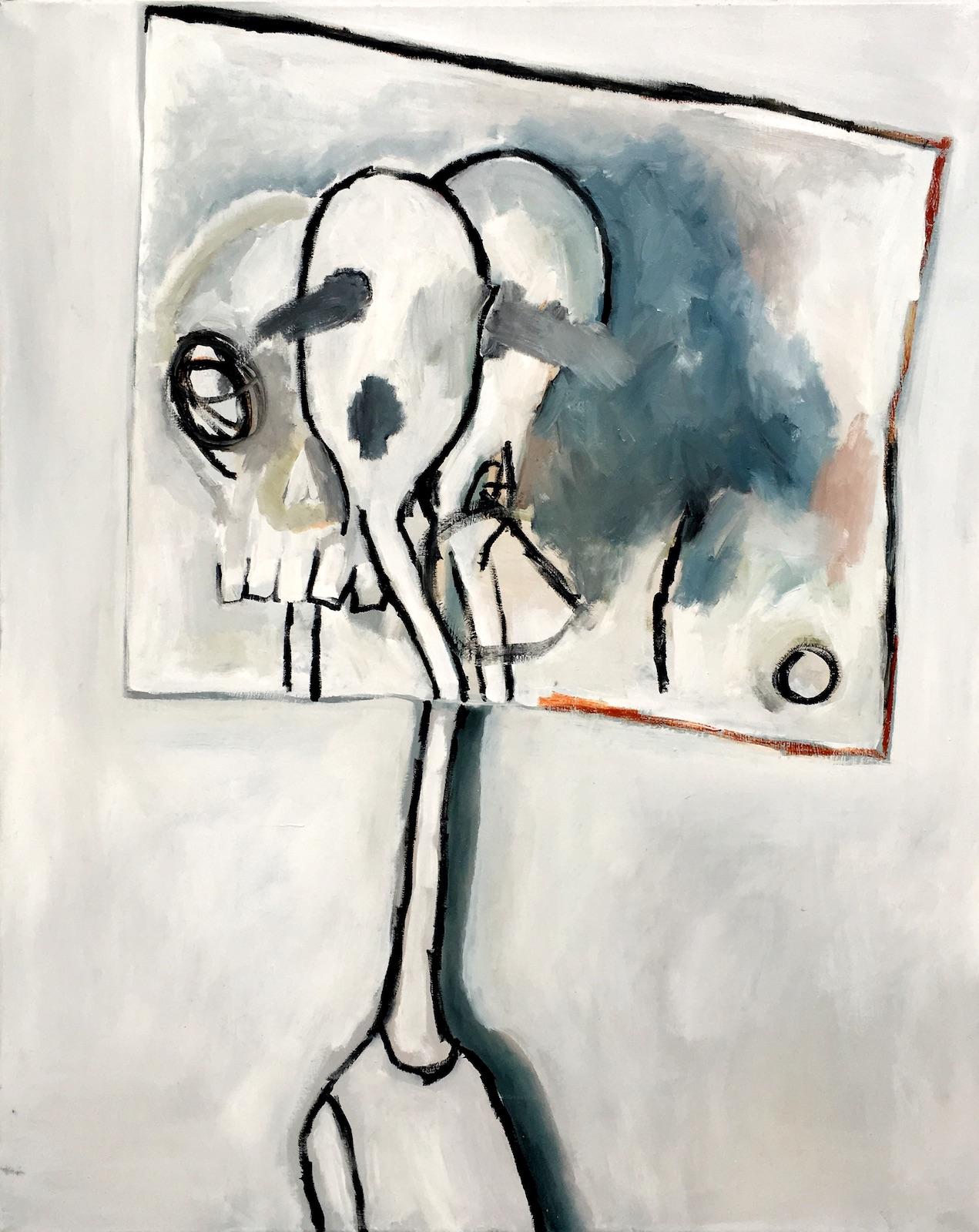 Irrtümer, 2018, Öl auf Leinwand, 90 x 50 cm ©Sophie Ullrich