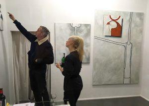 Foto: Birgit Laskowski, mit freundlicher Genehmigung von Sophie Ullrich und Achim Riechers (Eröffnung CAPUT. NARREN WACHSEN UNBEGOSSEN)
