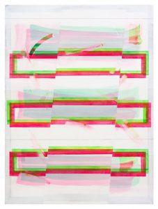 @Christof John, o. T., Acryl a. MDF, 2018, 40 x 30 cm