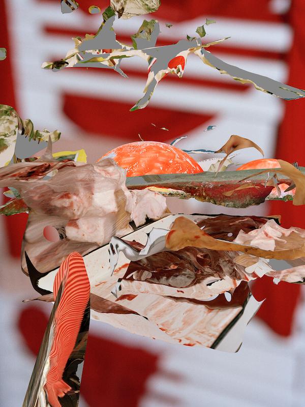 Victoria Pidust »Fleisch III«, Druck auf Papier, 2020, Maße variabel
