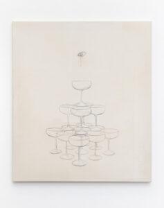 Pauł Sochacki, Die Physik der Metaphysik, 2021, Öl auf Leinwand, 80 x 70 cm