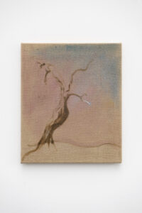 Pauł Sochacki, »Soul looking for a body«, 2019, Öl auf Leinwand, 45 x 38 cm