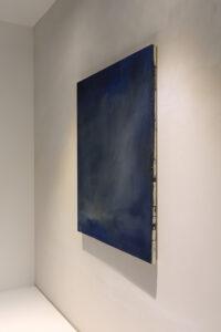 © Max Marion Kober, Kicking clouds around, o.T., 2021, Gouache auf Leinwand, 70 x 55 cm